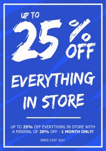 25% off a5 poster