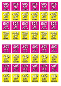30 40 50 60 crosswater sale stickers