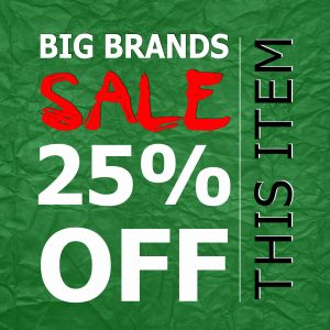 big brands sale labels 25 off christmas theme